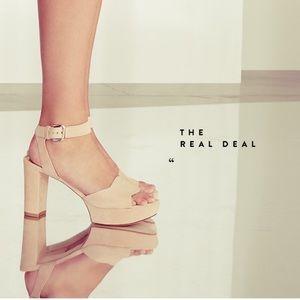 "STUART WEITZMAN  ""Real Deal' Platform Sandal"